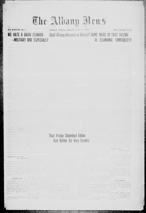 Primary view of object titled 'The Albany News (Albany, Tex.), Vol. 38, No. 2, Ed. 1 Friday, July 1, 1921'.