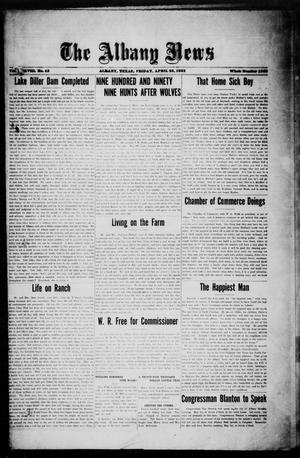 Primary view of object titled 'The Albany News (Albany, Tex.), Vol. 38, No. 43, Ed. 1 Friday, April 28, 1922'.