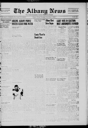Primary view of object titled 'The Albany News (Albany, Tex.), Vol. 71, No. 8, Ed. 1 Thursday, November 4, 1954'.