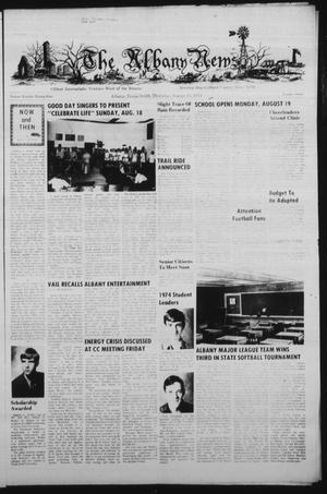 Primary view of object titled 'The Albany News (Albany, Tex.), Vol. 99, No. 7, Ed. 1 Thursday, August 15, 1974'.