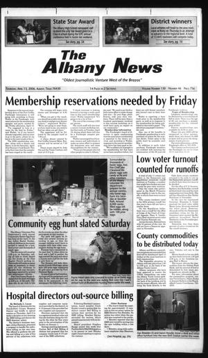Primary view of object titled 'The Albany News (Albany, Tex.), Vol. 130, No. 46, Ed. 1 Thursday, April 13, 2006'.