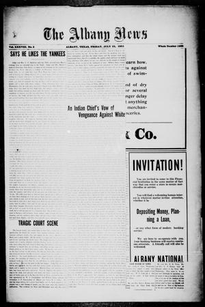 Primary view of object titled 'The Albany News (Albany, Tex.), Vol. 38, No. 5, Ed. 1 Friday, July 22, 1921'.