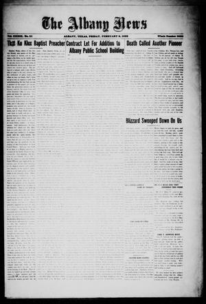 Primary view of object titled 'The Albany News (Albany, Tex.), Vol. 39, No. 31, Ed. 1 Friday, February 9, 1923'.