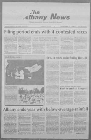 Primary view of object titled 'The Albany News (Albany, Tex.), Vol. 118, No. 31, Ed. 1 Thursday, January 6, 1994'.