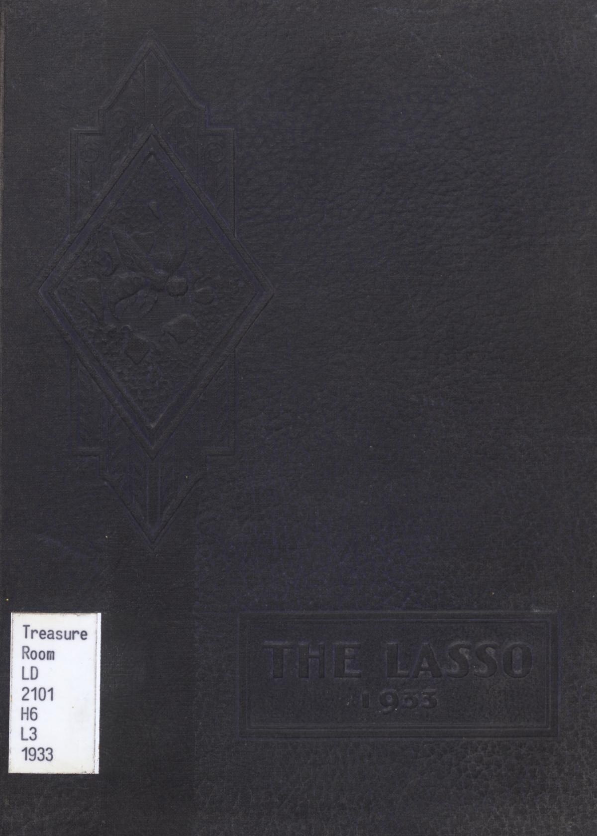 The Lasso, Yearbook of Howard Payne College, 1933                                                                                                      Front Cover
