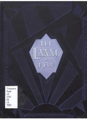 Primary view of object titled 'The Lasso, Yearbook of Howard Payne College, 1930'.