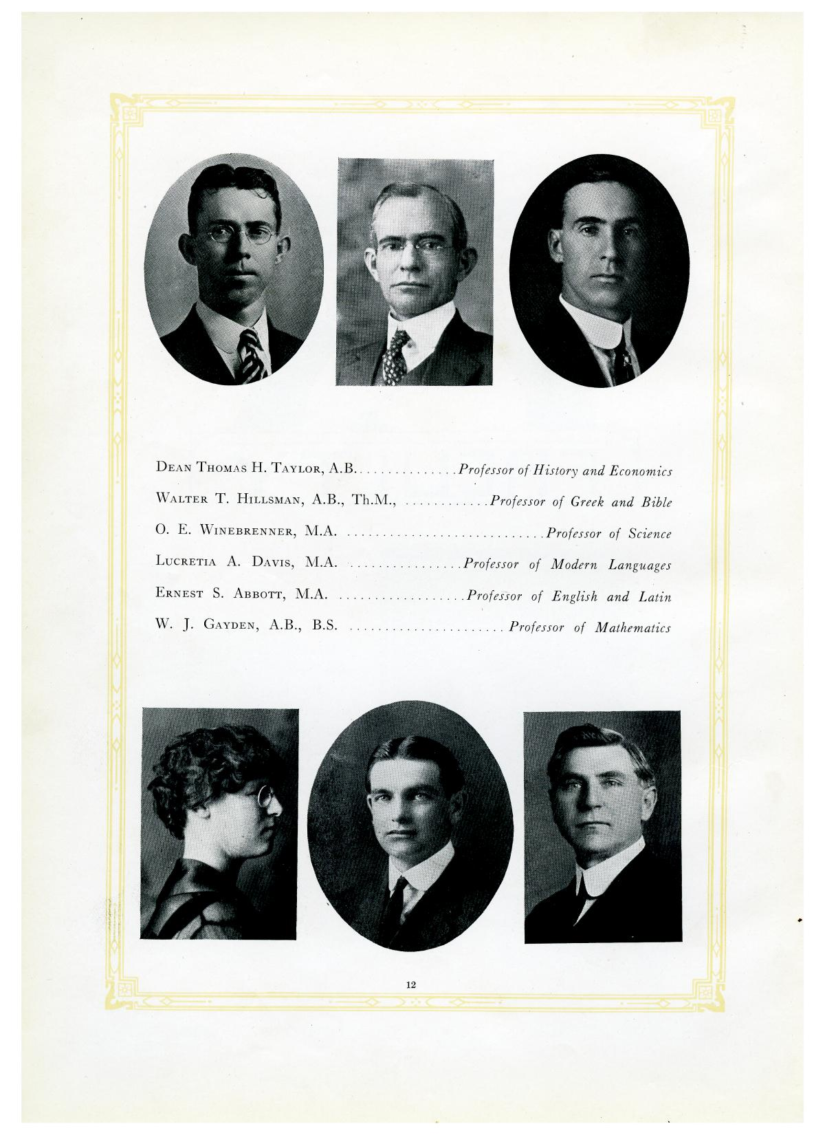 The Lasso, Yearbook of Howard Payne College, 1919                                                                                                      12