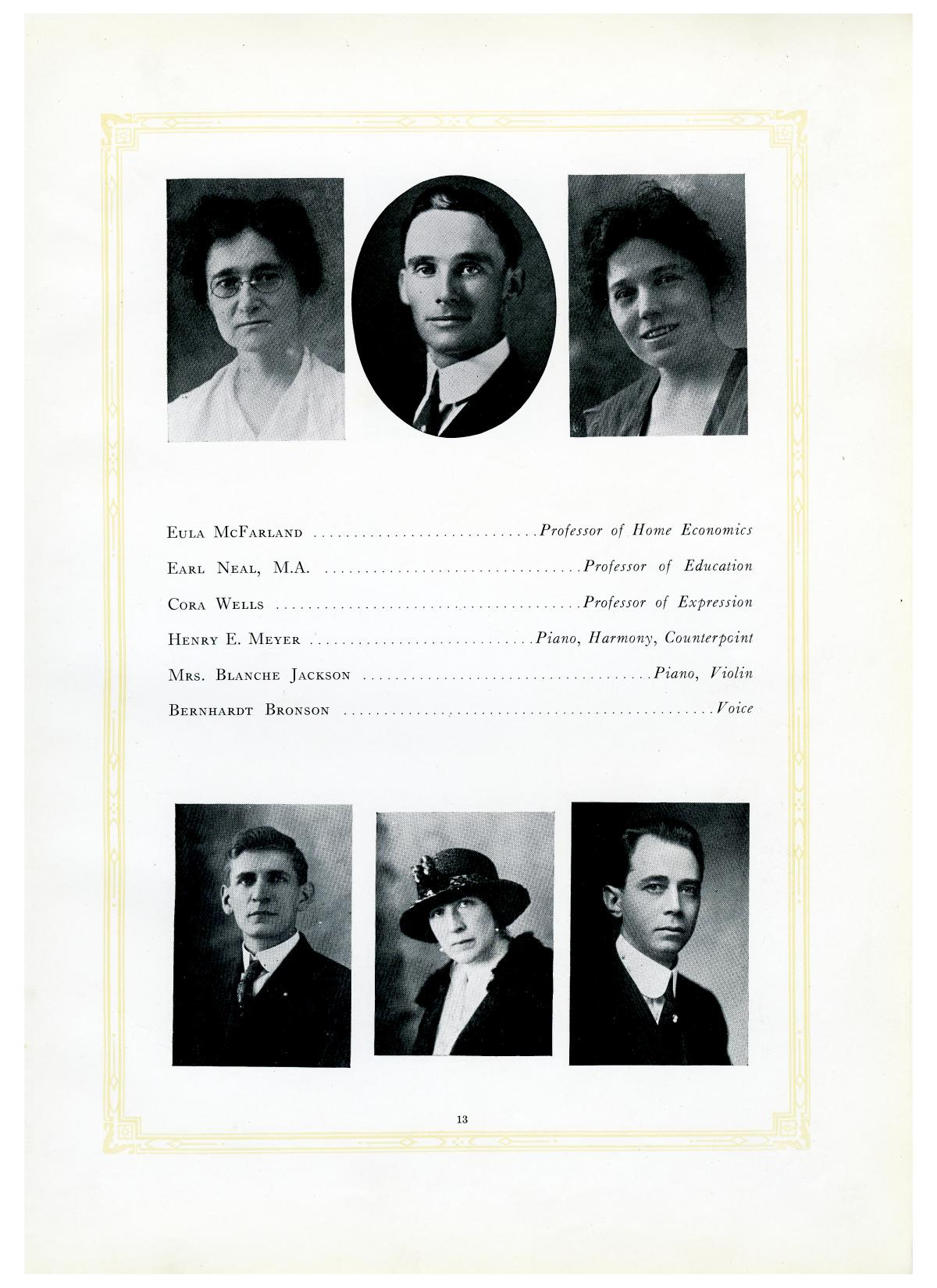 The Lasso, Yearbook of Howard Payne College, 1919                                                                                                      13