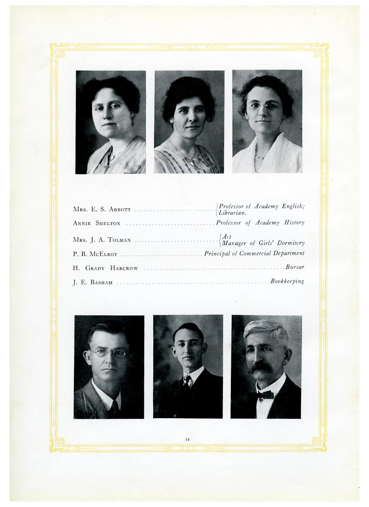The Lasso, Yearbook of Howard Payne College, 1919                                                                                                      14