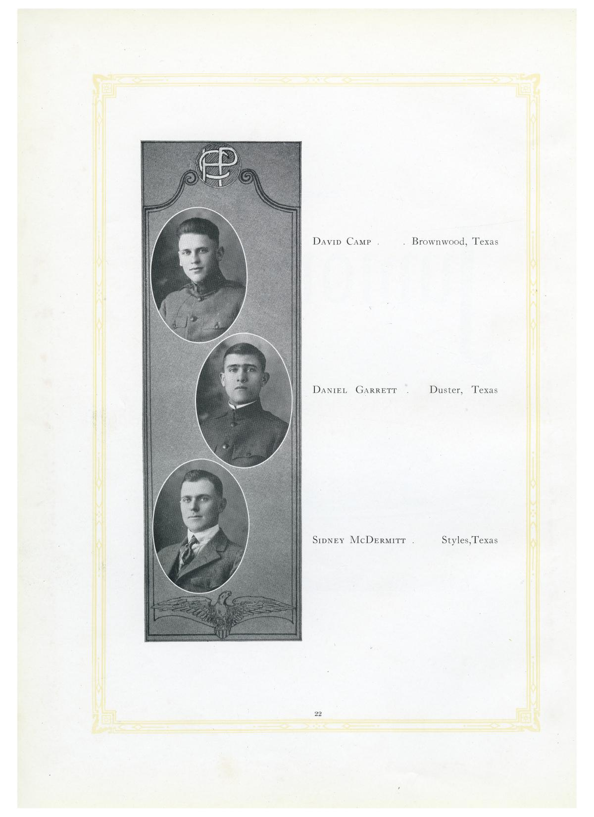 The Lasso, Yearbook of Howard Payne College, 1919                                                                                                      22