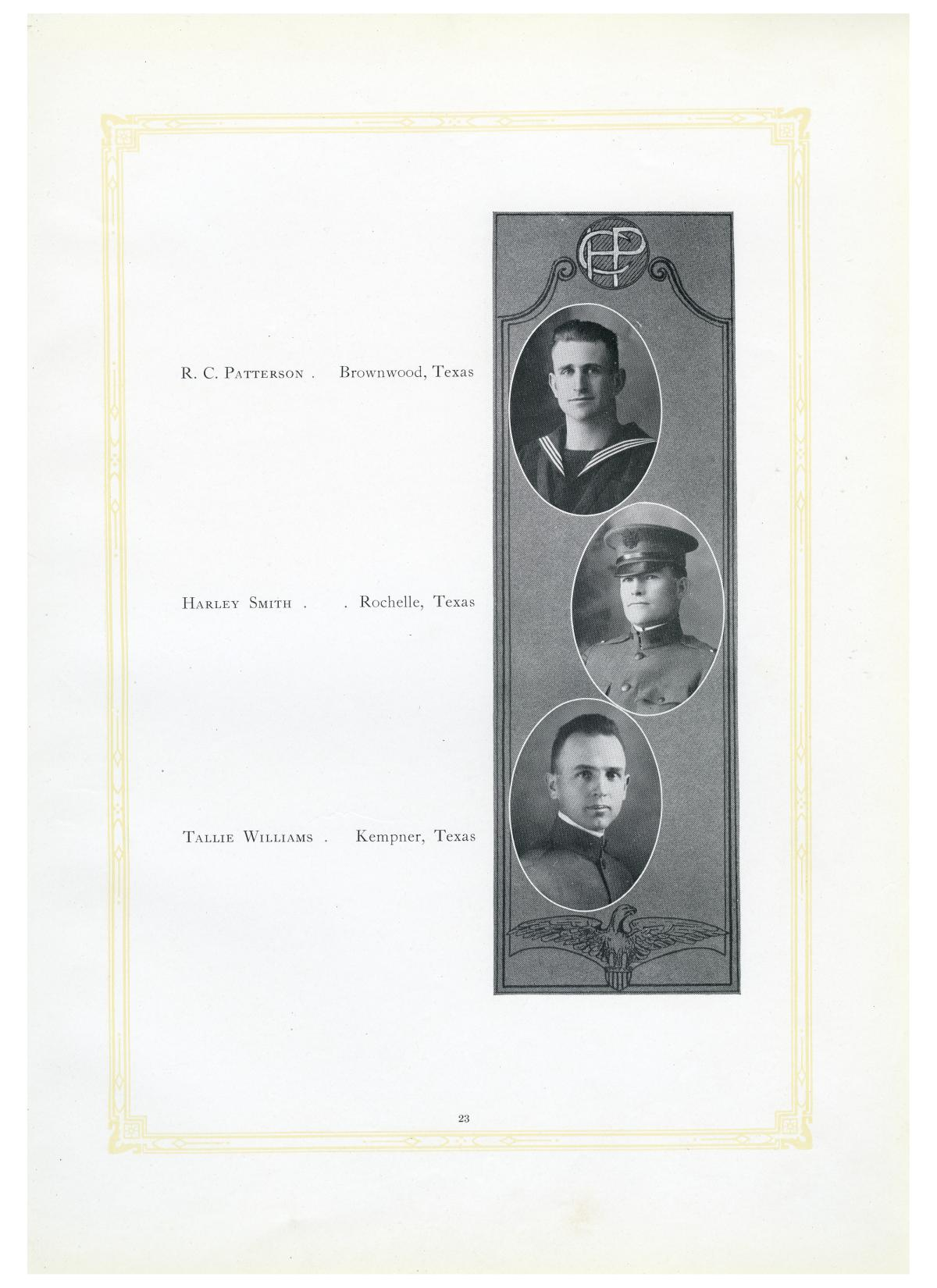 The Lasso, Yearbook of Howard Payne College, 1919                                                                                                      23