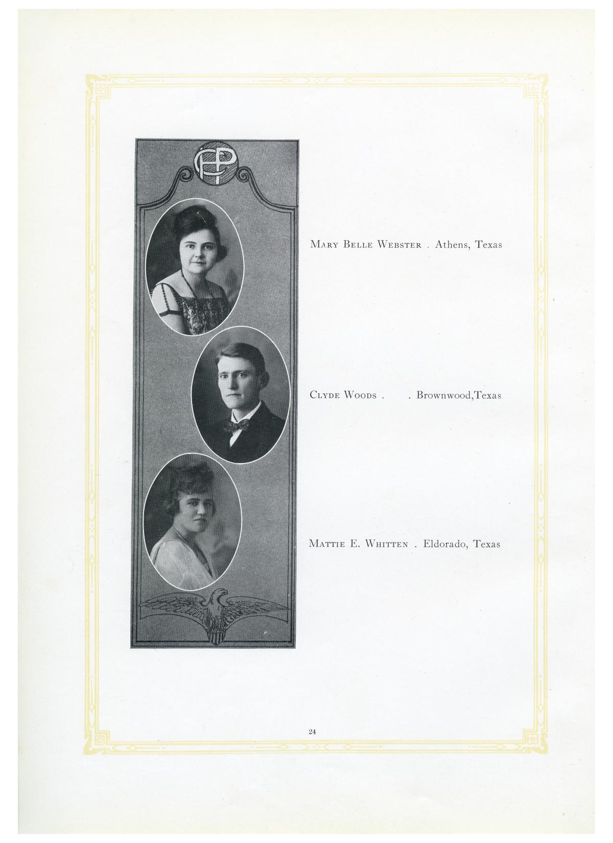 The Lasso, Yearbook of Howard Payne College, 1919                                                                                                      24