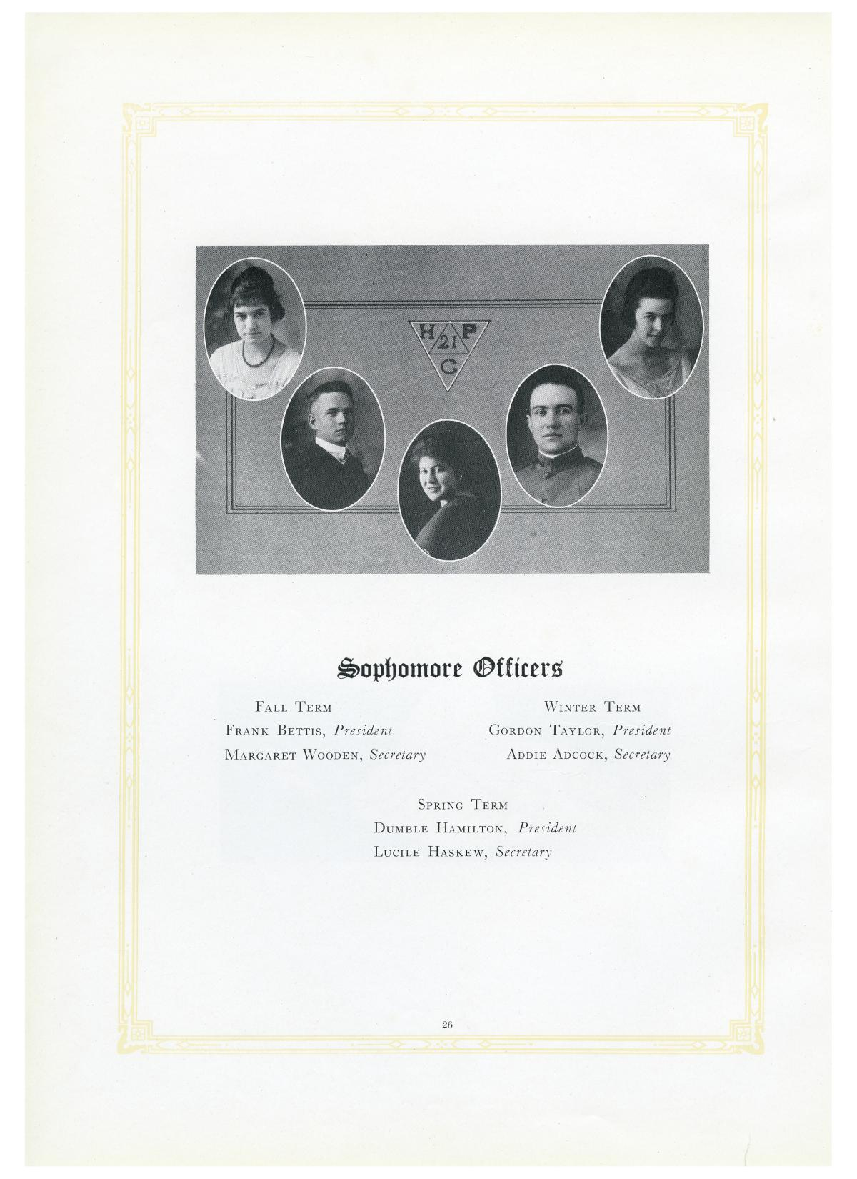 The Lasso, Yearbook of Howard Payne College, 1919                                                                                                      26