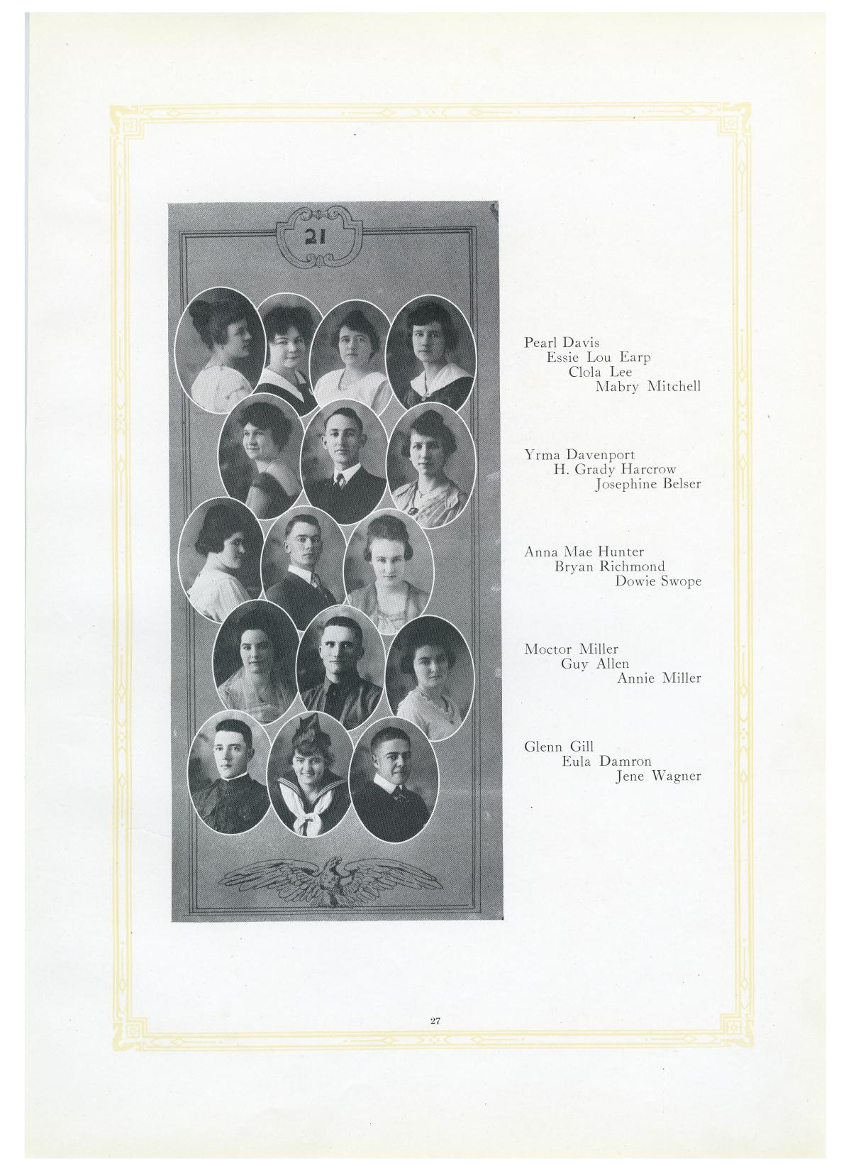 The Lasso, Yearbook of Howard Payne College, 1919                                                                                                      27