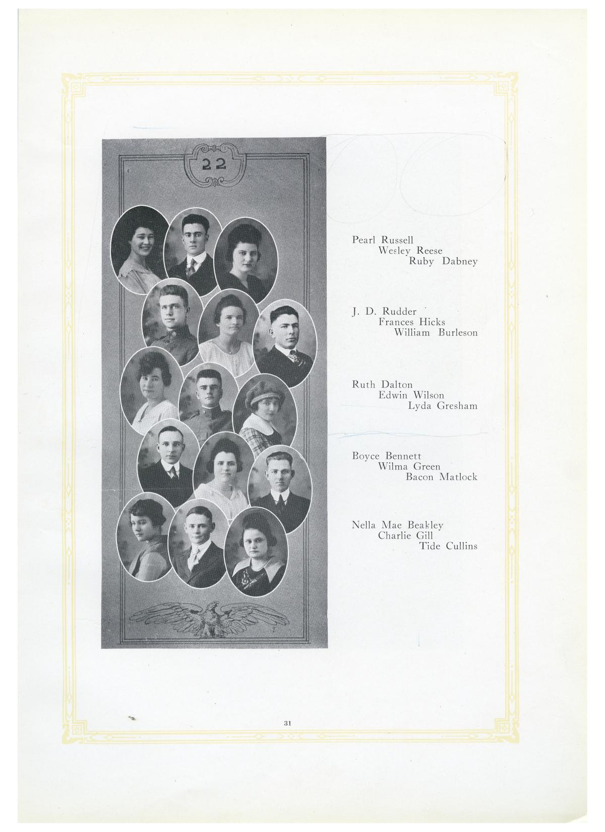 The Lasso, Yearbook of Howard Payne College, 1919                                                                                                      31
