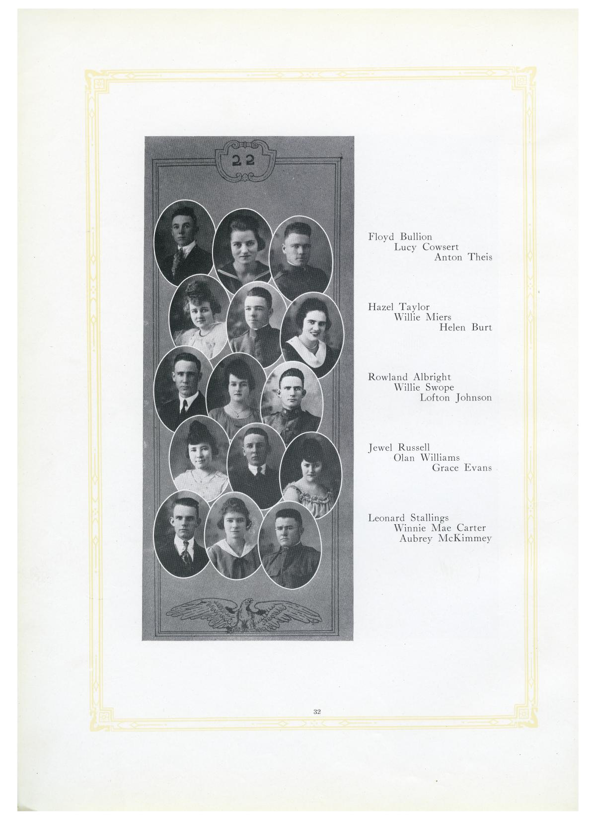 The Lasso, Yearbook of Howard Payne College, 1919                                                                                                      32