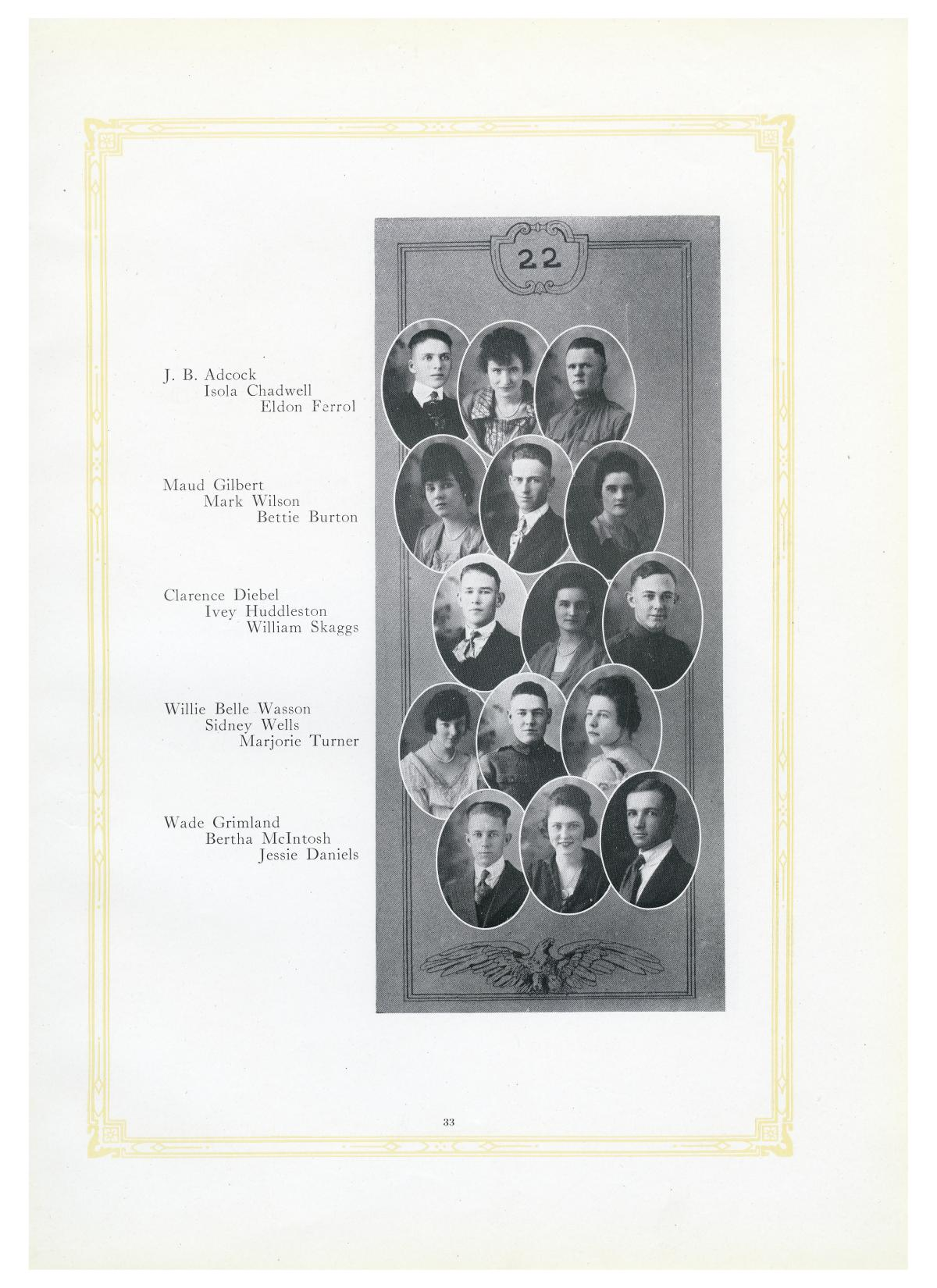 The Lasso, Yearbook of Howard Payne College, 1919                                                                                                      33
