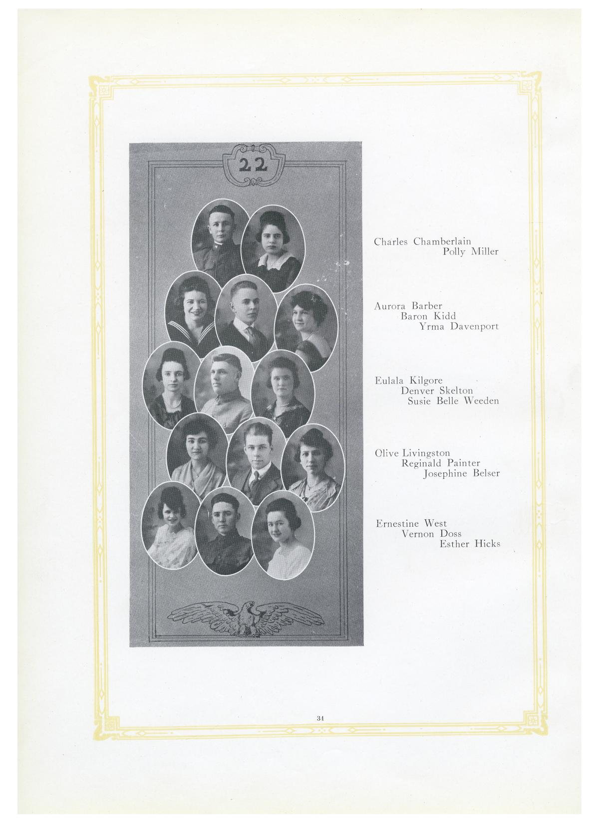 The Lasso, Yearbook of Howard Payne College, 1919                                                                                                      34