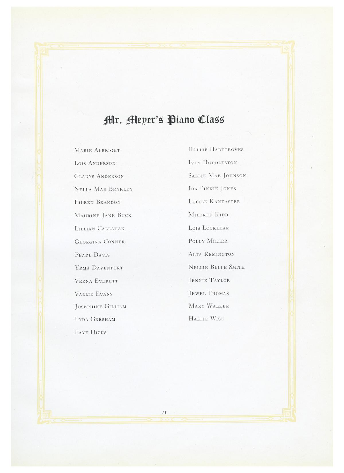 The Lasso, Yearbook of Howard Payne College, 1919                                                                                                      51