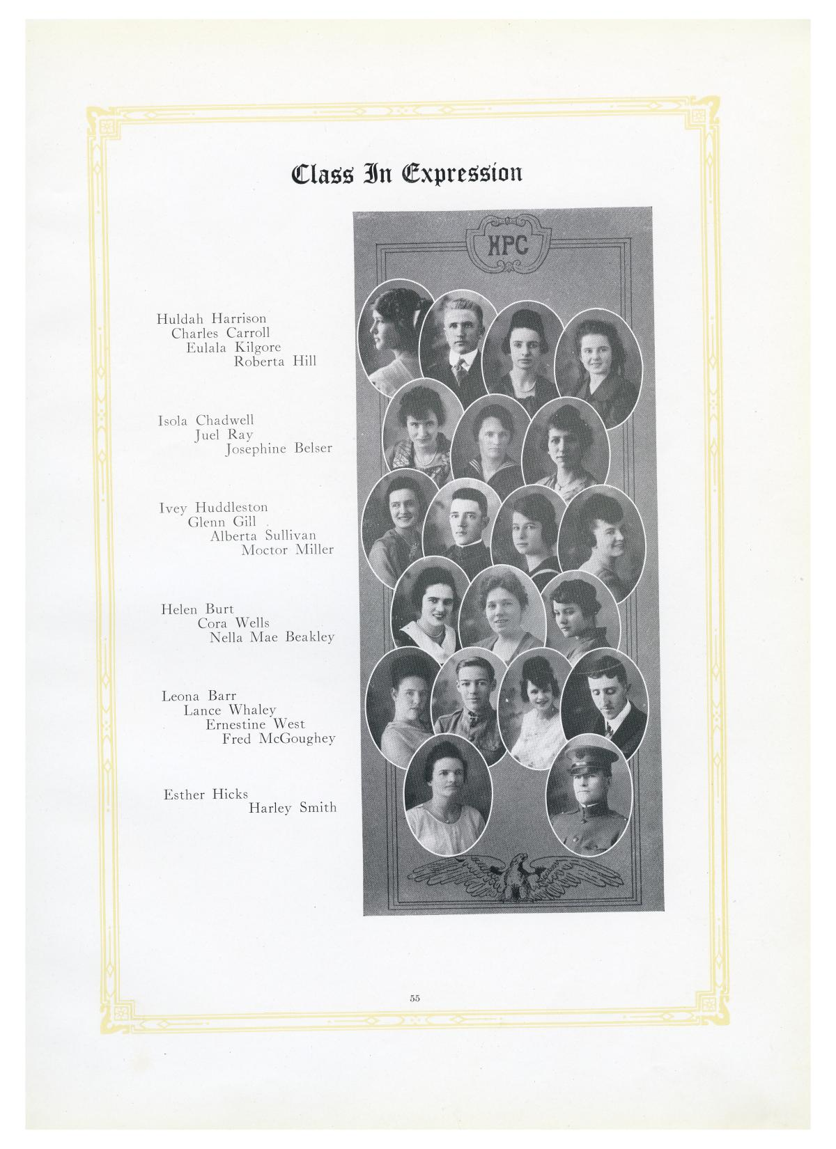 The Lasso, Yearbook of Howard Payne College, 1919                                                                                                      55
