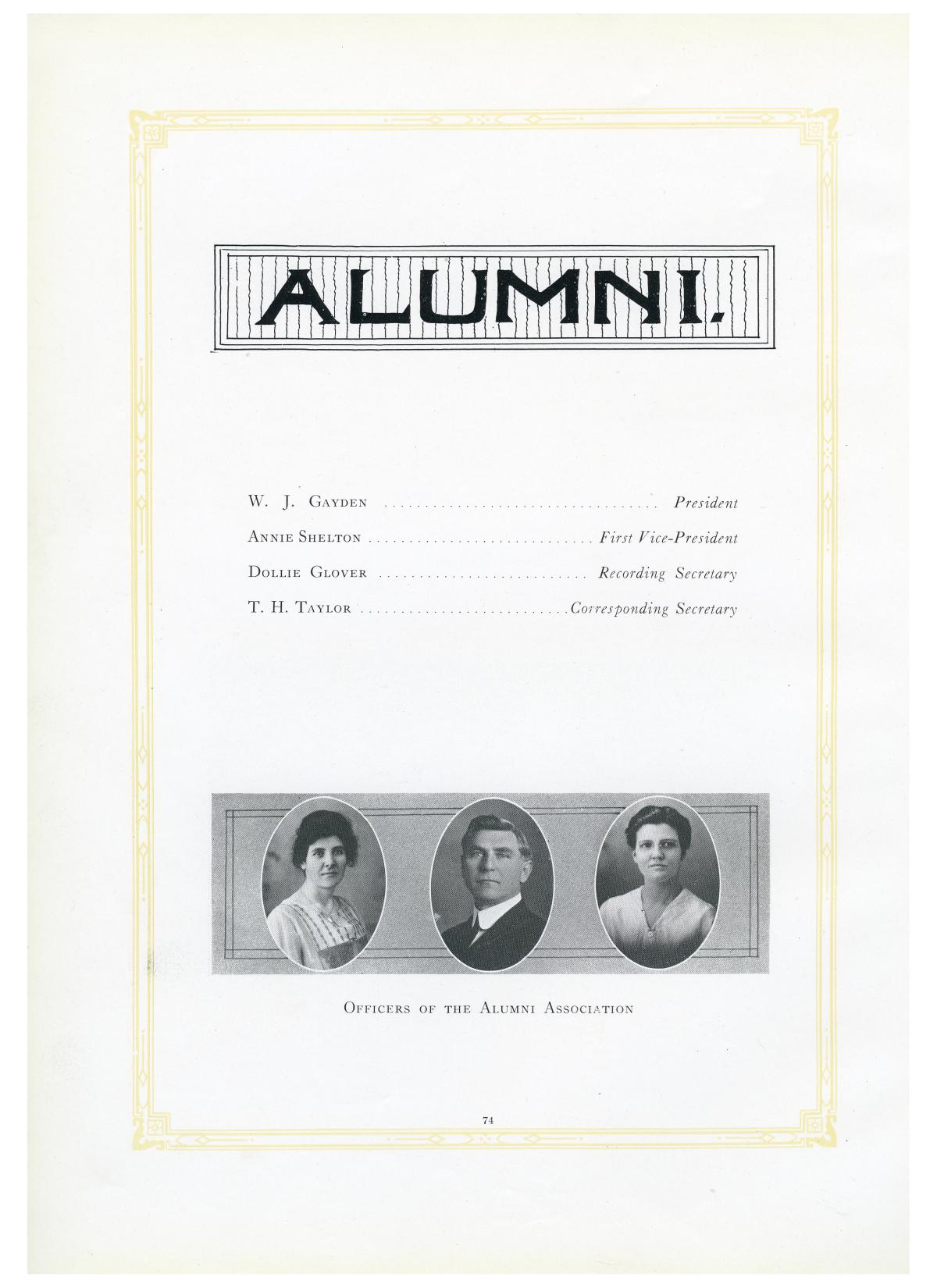 The Lasso, Yearbook of Howard Payne College, 1919                                                                                                      74