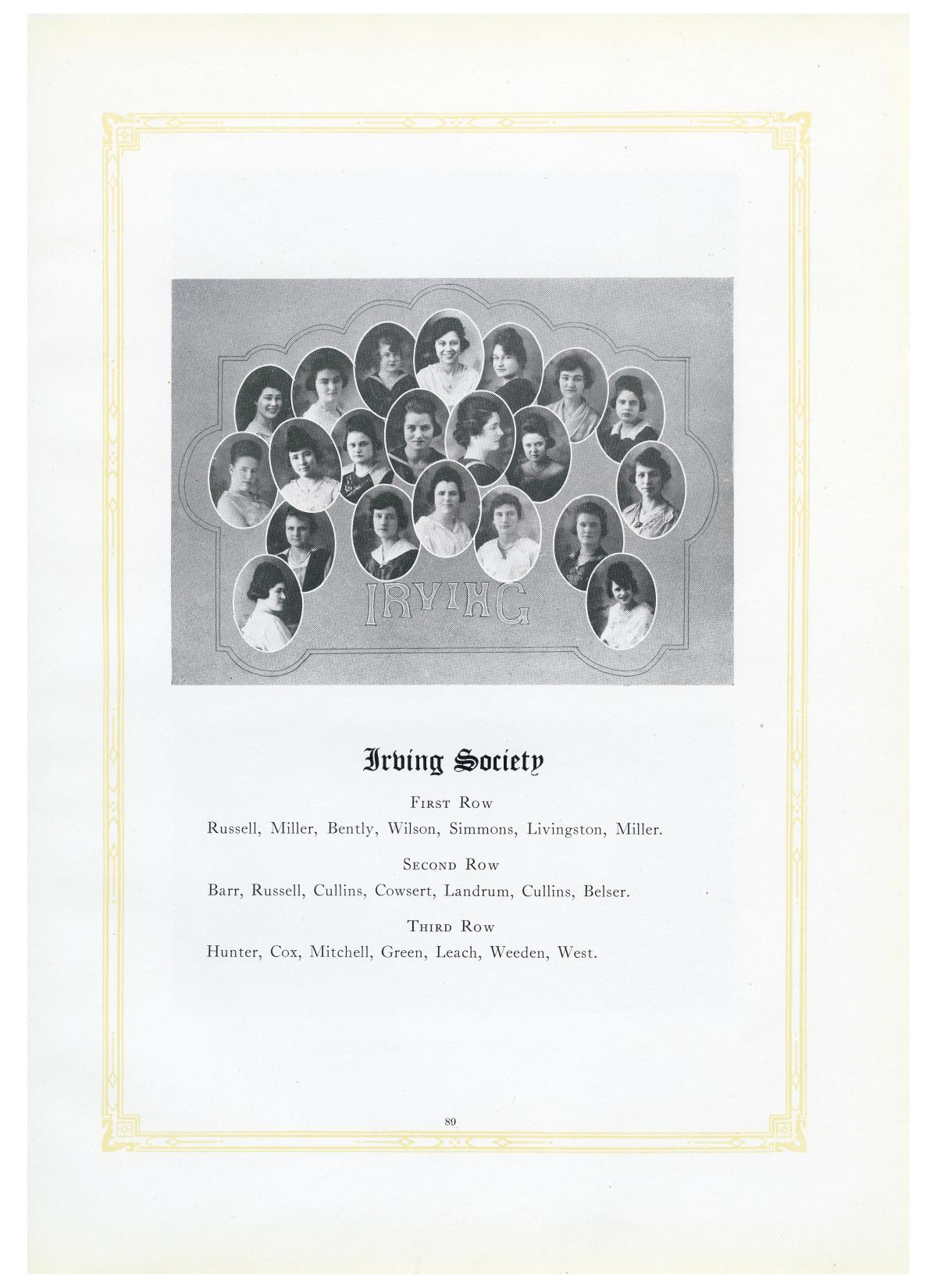The Lasso, Yearbook of Howard Payne College, 1919                                                                                                      89