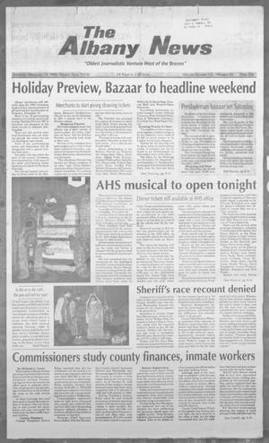 Primary view of object titled 'The Albany News (Albany, Tex.), Vol. 121, No. 24, Ed. 1 Thursday, November 14, 1996'.
