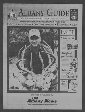 Primary view of object titled 'Albany Guide: Official Visitors Guide of the Albany Chamber of Commerce, Vol. 6, No. 2, Fall/Winter 2002-2003'.