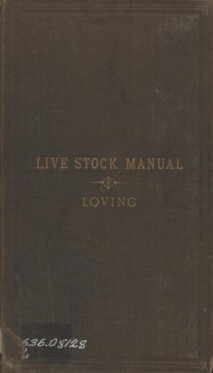 Primary view of object titled 'The Stock manual : containing the name, post office address, ranch location, marks and brands of all the principal stockmen of western and northwestern Texas, showing marks and brands on electrotype cuts as they appear on the animal.'.