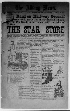 Primary view of object titled 'The Albany News. (Albany, Tex.), Vol. 14, No. 31, Ed. 1 Friday, November 12, 1897'.