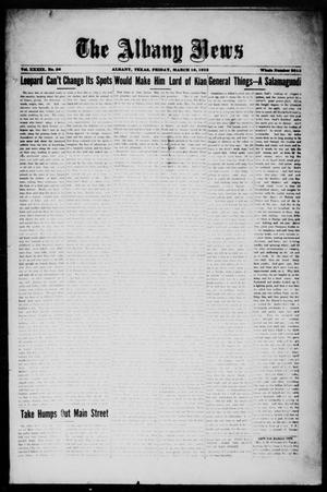 Primary view of object titled 'The Albany News (Albany, Tex.), Vol. 39, No. 36, Ed. 1 Friday, March 16, 1923'.