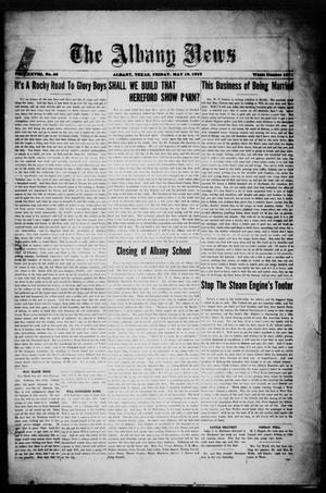 Primary view of object titled 'The Albany News (Albany, Tex.), Vol. 38, No. 46, Ed. 1 Friday, May 19, 1922'.