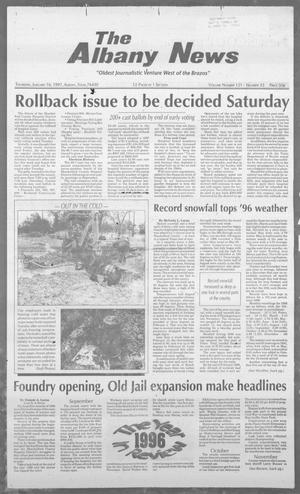 Primary view of object titled 'The Albany News (Albany, Tex.), Vol. 121, No. 33, Ed. 1 Thursday, January 16, 1997'.