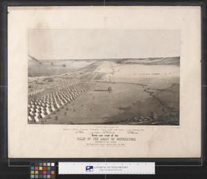 Primary view of object titled 'Bird's-Eye View of the Army Occupation, Corpus Christi, Texas, Oct. 1845'.