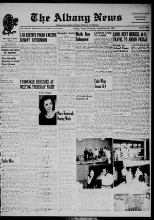 Primary view of object titled 'The Albany News (Albany, Tex.), Vol. 79, No. 3, Ed. 1 Thursday, September 20, 1962'.