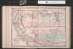 Primary view of object titled '[Johnson's map of California and territories of New Mexico and Utah]'.