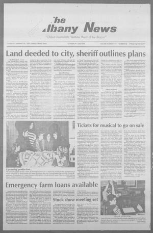 Primary view of object titled 'The Albany News (Albany, Tex.), Vol. 117, No. 32, Ed. 1 Thursday, January 14, 1993'.