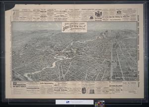 Primary view of object titled 'Bird's eye view map of San Antonio, Tex.'.