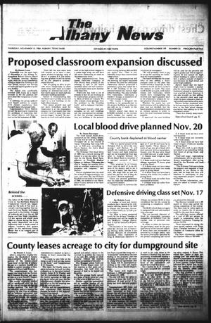 Primary view of object titled 'The Albany News (Albany, Tex.), Vol. 109, No. 22, Ed. 1 Thursday, November 15, 1984'.