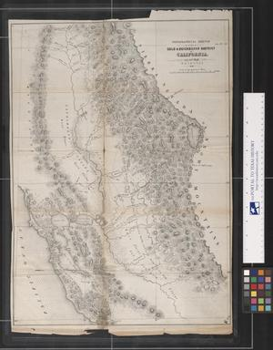 Primary view of object titled 'Topographical sketch of the Gold & Quicksilver District of California.'.