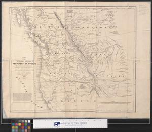Primary view of object titled 'Map of the United States. Territory of Oregon. 1838.'.