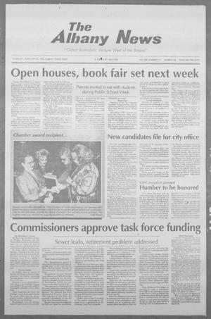 Primary view of object titled 'The Albany News (Albany, Tex.), Vol. 117, No. 38, Ed. 1 Thursday, February 25, 1993'.