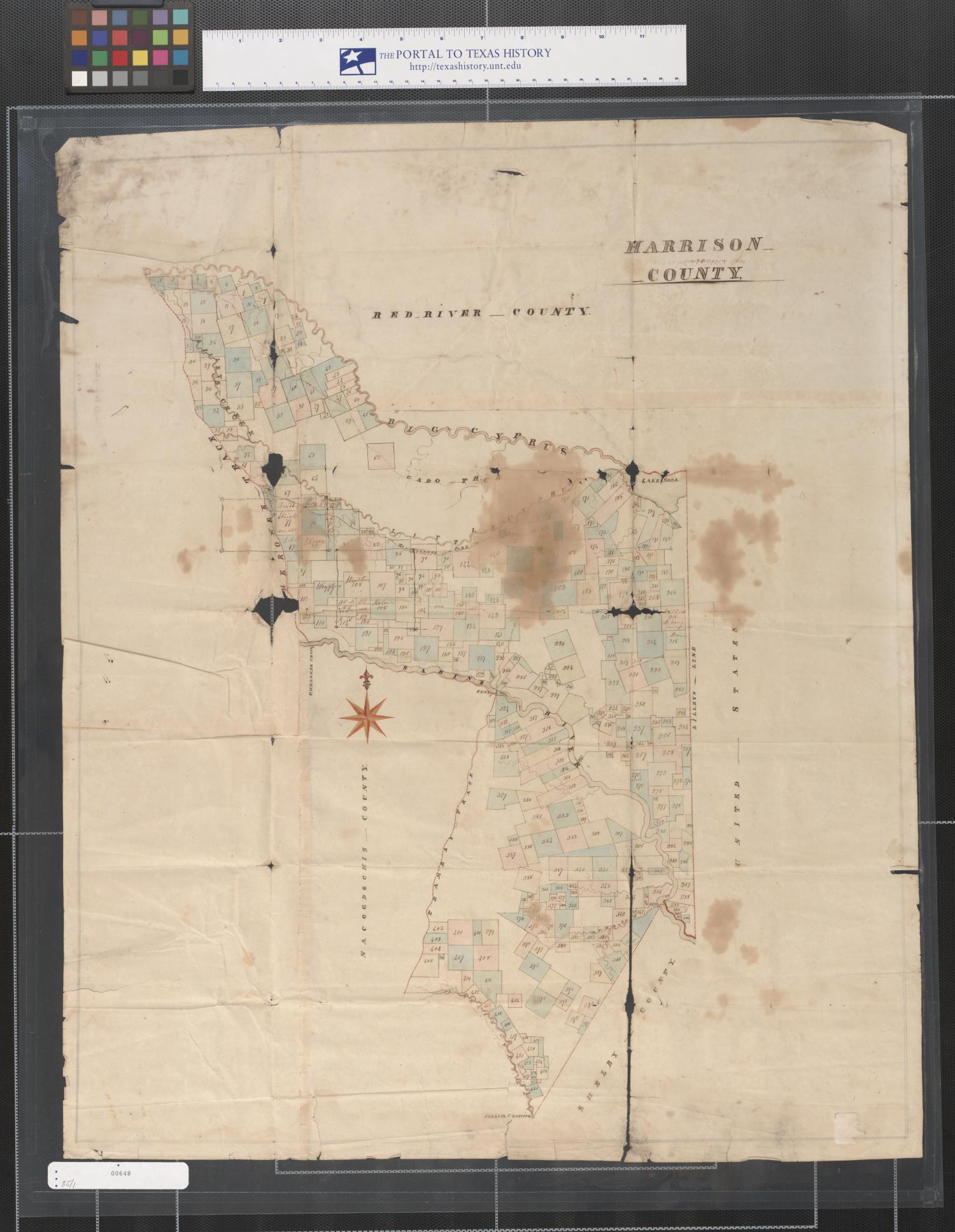 [Map of Harrison County, Texas]                                                                                                      [Sequence #]: 1 of 1