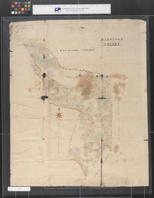 Primary view of object titled '[Map of Harrison County, Texas]'.