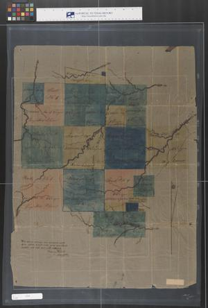 Primary view of object titled '[Land Plat South of the Sabine River, Texas]'.
