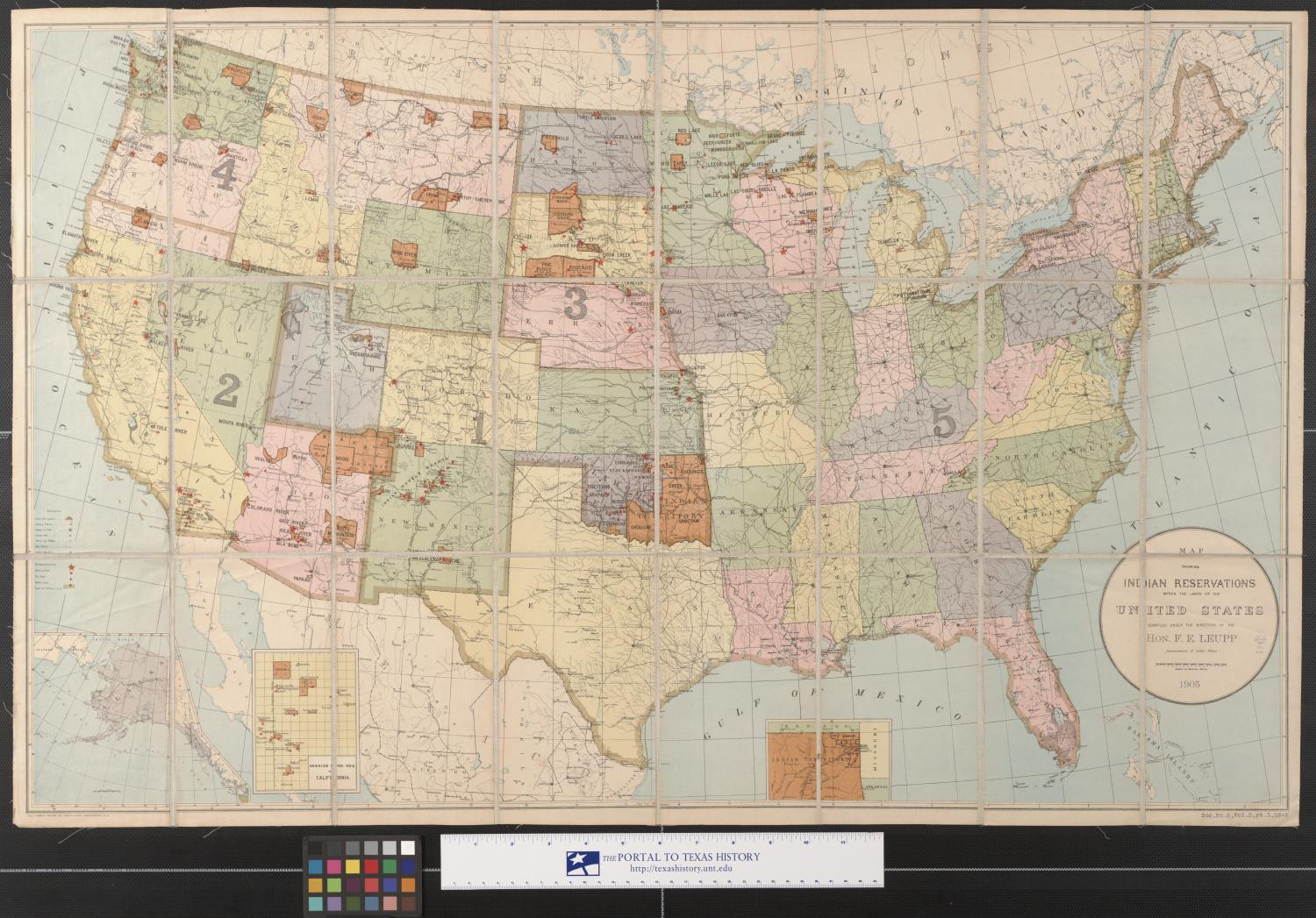 Map Showing Indian Reservations Within The Limits Of The United - Map of us indian reservations
