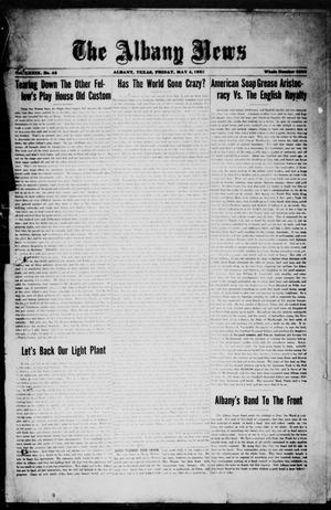 Primary view of object titled 'The Albany News (Albany, Tex.), Vol. 39, No. 43, Ed. 1 Friday, May 4, 1923'.