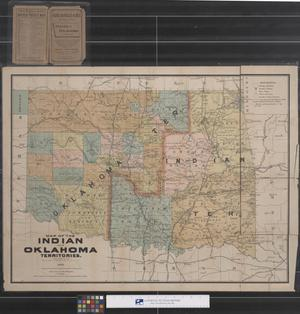 Primary view of object titled 'Map of Indian and Oklahoma Territories, 1893'.