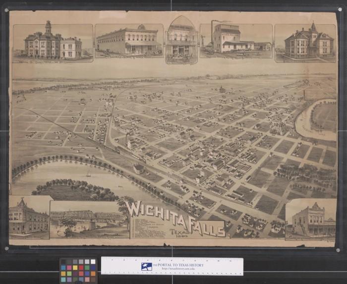 Map of Wichita Falls Texas 1890 The Portal to Texas History