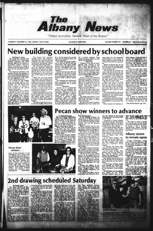 Primary view of object titled 'The Albany News (Albany, Tex.), Vol. 109, No. 26, Ed. 1 Thursday, December 13, 1984'.